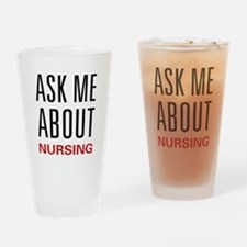 Ask Me Nursing Pint Glass