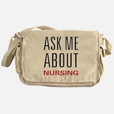 Ask Me Nursing Messenger Bag