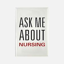 Ask Me Nursing Rectangle Magnet