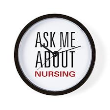 Ask Me Nursing Wall Clock