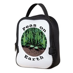 Peas On Earth Neoprene Lunch Bag
