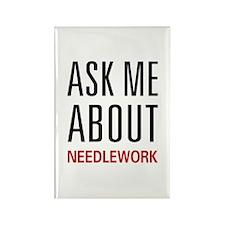 Ask Me Needlework Rectangle Magnet