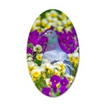 Pigeon and Pansies Wall Decal