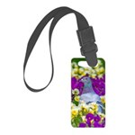 Pigeon and Pansies Luggage Tag