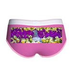 Pigeon and Pansies Women's Boy Brief