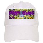 Pigeon and Pansies Baseball Cap