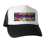 Pigeon and Pansies Trucker Hat