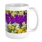 Pigeon and Pansies Mugs