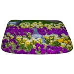 Pigeon and Pansies Bathmat