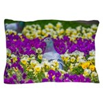 Pigeon and Pansies Pillow Case