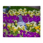 Pigeon and Pansies Throw Blanket