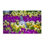 Pigeon and Pansies 3'x5' Area Rug