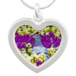 Pigeon and Pansies Necklaces