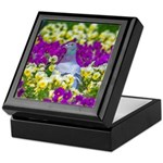 Pigeon and Pansies Keepsake Box