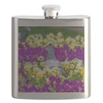 Pigeon and Pansies Flask