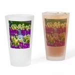 Pigeon and Pansies Drinking Glass
