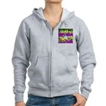 Pigeon and Pansies Zip Hoodie