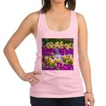 Pigeon and Pansies Racerback Tank Top
