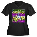 Pigeon and Pansies Plus Size T-Shirt