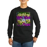 Pigeon and Pansies Long Sleeve T-Shirt