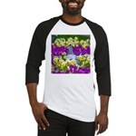 Pigeon and Pansies Baseball Jersey