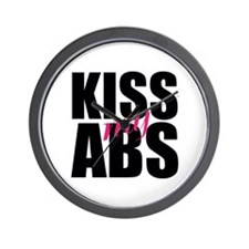 Kiss My Abs Wall Clock