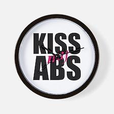 Kiss My Abs Wall Clock