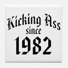 Kicking Ass 1982 Tile Coaster