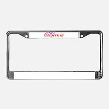 California Sunset License Plate Frame