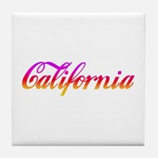 California Sunset Tile Coaster