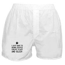 Coffee Create Sleep Boxer Shorts