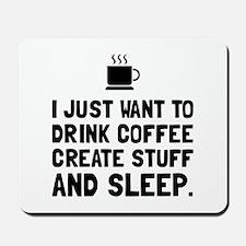 Coffee Create Sleep Mousepad