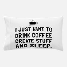Coffee Create Sleep Pillow Case