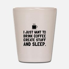 Coffee Create Sleep Shot Glass
