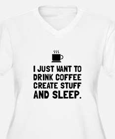 Coffee Create Sleep Plus Size T-Shirt