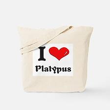 I love platypus Tote Bag