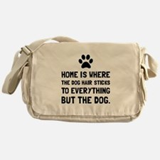 Dog Hair Sticks Messenger Bag