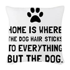 Dog Hair Sticks Woven Throw Pillow