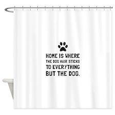 Dog Hair Sticks Shower Curtain