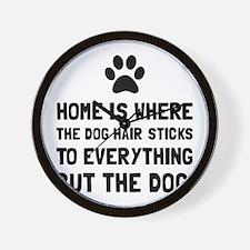 Dog Hair Sticks Wall Clock