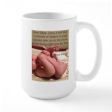 Baby Yoga Large Mugs