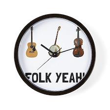 Folk Yeah Wall Clock