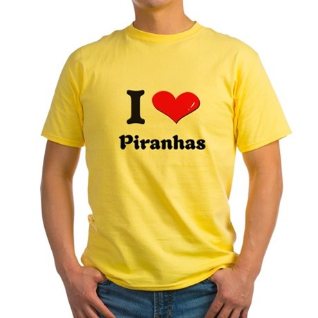 I love piranhas Yellow T-Shirt