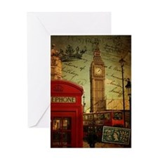 london landmark red telephone booth Greeting Cards
