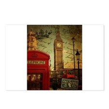 london landmark red telephone booth Postcards (Pac