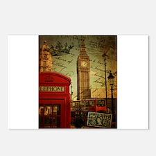 london landmark red telephone booth Postcards (Pac