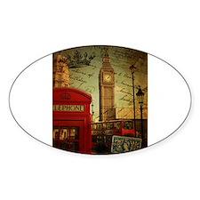 london landmark red telephone booth Decal