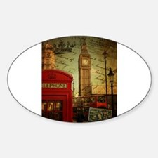 london landmark red telephone booth Decal