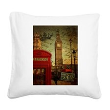 london landmark red telephone booth Square Canvas