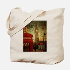 london landmark red telephone booth Tote Bag
